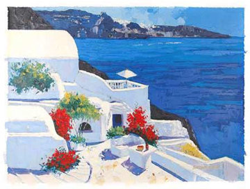 Greek Isles II 1999 Embellished Limited Edition Print - Barbara McCann