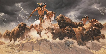 Flashes of Lightning, Thunder of Hooves Triptych 1993 Limited Edition Print - Frank McCarthy