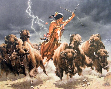 Flashes of Lightning, Thunder of Hooves Set of 3 1994 Limited Edition Print - Frank McCarthy
