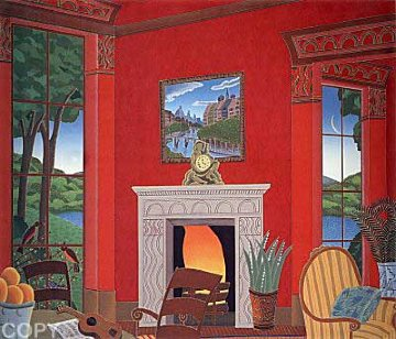 Red Room With Guitar 1987 Limited Edition Print - Thomas Frederick McKnight