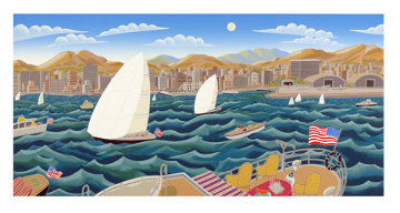 San Diego America's Cup 1992 Limited Edition Print - Thomas Frederick McKnight