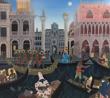 Venitian Suite of 2 Carnival in Venice, Venitian Tale) 1988 Limited Edition Print - Thomas Frederick McKnight
