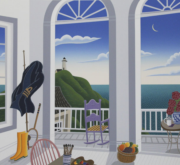Nantucket Porch With Captain's Jacket 1991