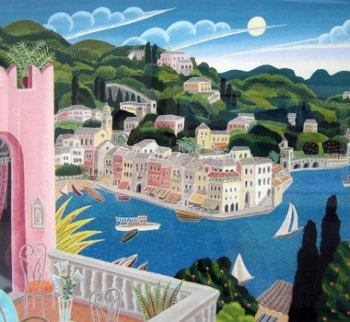 Portofino Terrace (Italy) 2010 Limited Edition Print - Thomas Frederick McKnight