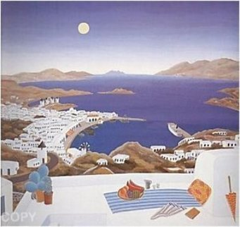 Mykonos Rooftops 1982 Limited Edition Print - Thomas Frederick McKnight