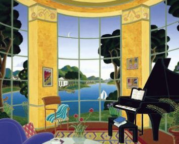Yellow Music Room Limited Edition Print - Thomas Frederick McKnight