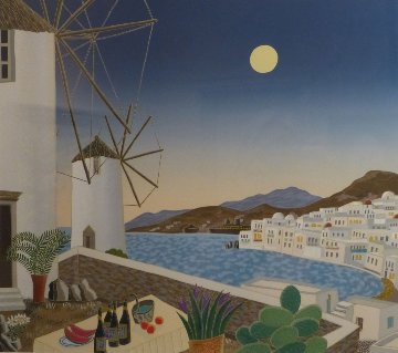 Mykonos Windmills AP 1984 Limited Edition Print - Thomas Frederick McKnight
