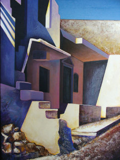 Light Angles 1993 46x36 Original Painting - Igor Medvedev