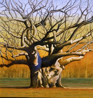 Laced Branches 2008 43x41 Original Painting - Igor Medvedev