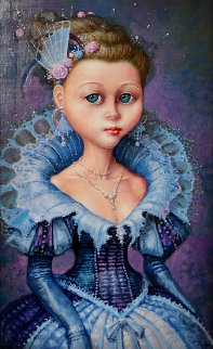 Little Princess 20x15 Original Painting - Daniel Merriam