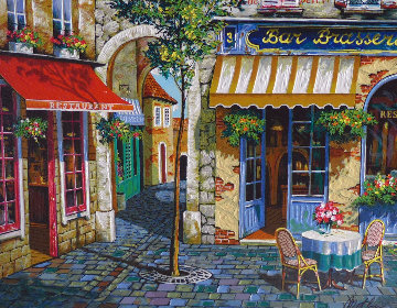 Pause Cafe 2010 Embellished Limited Edition Print - Anatoly Metlan