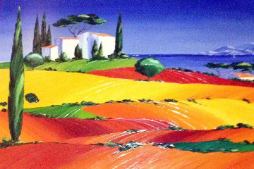 Apres Midi D'ete 2000 35x46  After Mid Day Original Painting - Monika Meunier