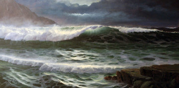 Seascape 24x48 Original Painting - Maurice Meyer