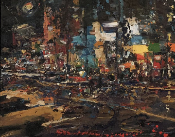 Friday Night Lights 32x42 Original Painting - Carolyn Meyer