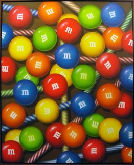 M and M Pixie Sweetness 46x36 Original Painting - Dan Meyer