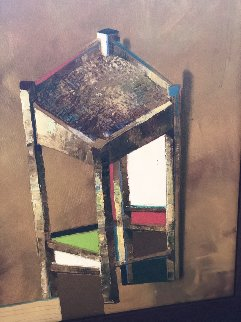 Stool 23x19 Original Painting - Michael Gorban