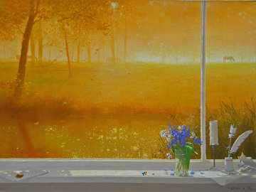 Glowing Morning 2008 30x40 Original Painting - Michael Gorban