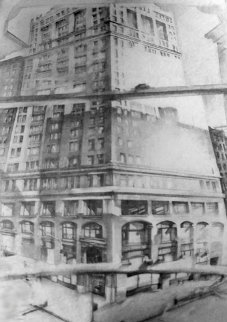 View Into Broadway 1971, New York Drawing - Michael Mazur