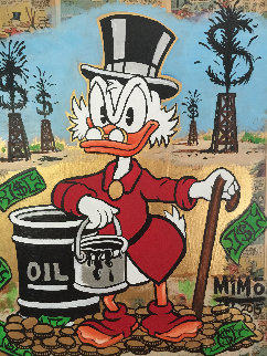 Scrooge Mcduck Oil Well Striking Cash Unique 2015 24x24 Works on Paper (not prints) -  MiMo