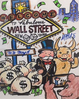 Wall Street New York 2015 12x15 Works on Paper (not prints) -  MiMo