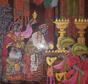 Magical Theatre 2006 50x49 Original Painting - Zu Ming Ho