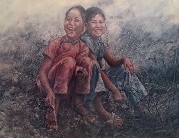 Girls in Grass 1977 Limited Edition Print - Wai Ming