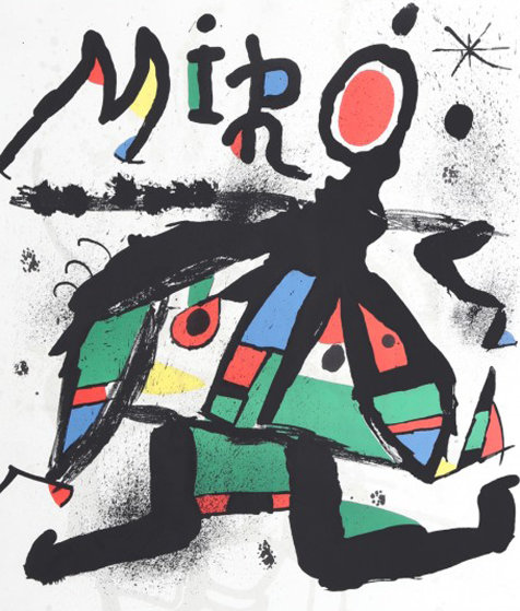 Exhibition Miro At the Galerie Maeght 1979