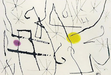 Cantic Del Sol, Plate 13 1975 Limited Edition Print - Joan Miro