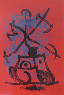 L'Entraineuse - Rouge 1969 Limited Edition Print - Joan Miro