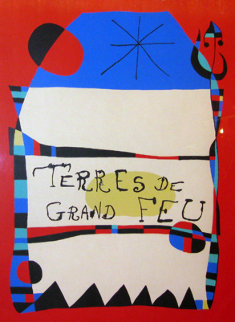 Terres De Grand Feu Limited Edition Print - Joan Miro