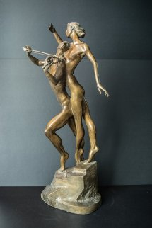 Violinist Bronze Sculpture 1999 26 in Sculpture - Misha Frid