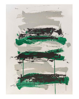 Champs (Black, Gray And Green) 1991 Limited Edition Print - Joan Mitchell