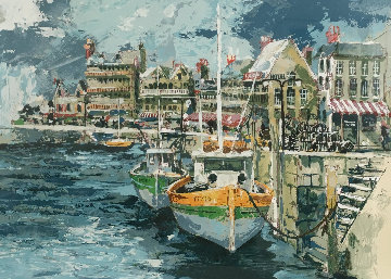 Brittany Cove, French Seaport Limited Edition Print - Wayland Moore