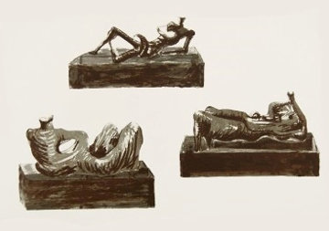 Three Reclining Figures  1976 Limited Edition Print - Henry Moore