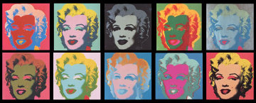 Andy Warhol: Sunday B. Morning, Marilyn Monroe Suite of 10 Limited Edition Print - Sunday B. Morning