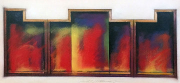 Colmar Variation #23 Pastel 1982 42x28 Works on Paper (not prints) - Jim Morphesis