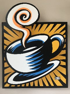Coffee Cup State III Yellow 2001 Limited Edition Print - Burton Morris