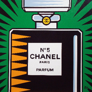 Chanel No. 5 2010 30x30 Original Painting - Burton Morris