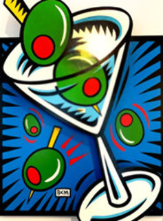 Martini State 111 (Blue) 2000 3-D  on Wood Limited Edition Print - Burton Morris