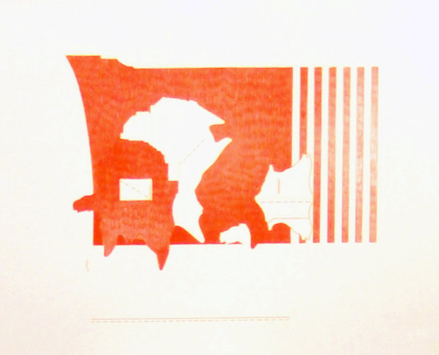 Untitled Lithograph 1969 Rare Proof