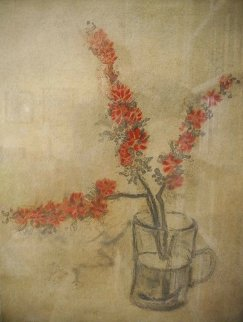 Orange Blossoms in a Vase 1980 Limited Edition Print - Kaiko Moti