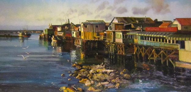 wharf at monterey 1972 by fil mottola
