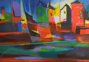 Port Au Moulin Rougue 2006 Limited Edition Print - Marcel Mouly