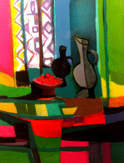Cerises Au Rideau African Limited Edition Print - Marcel Mouly