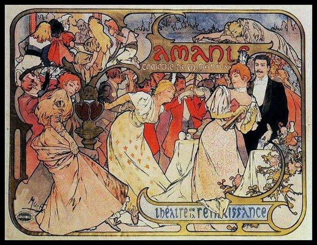 Amants - Theatre De La Renaissance 1895