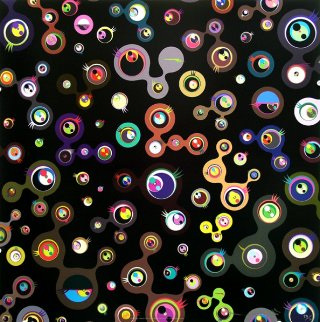 Jellyfish Eyes Black 4 Limited Edition Print - Takashi Murakami