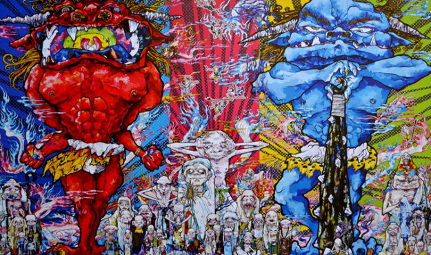 Red demon and blue demon with 48 arhats 2013 by takashi for Best way to sell your art online