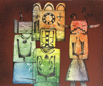 Ancient Images 1980 Limited Edition Print - Dan Namingha