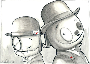 Laurel & Hardy 2019 19x15 Works on Paper (not prints) - Fabio Napoleoni