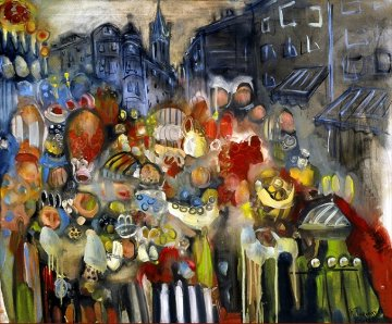 At the Market Place AP 2003 Limited Edition Print - Natasha Turovsky